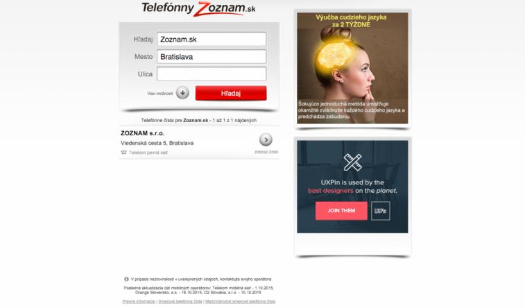 Telefónny Zoznam